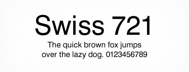 Swiss 721