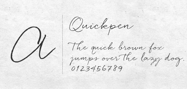 女性的で、やわらかく自然な流れが印象的なスクリプト(筆記体)フォントです。 筆記体は日本人にはあまり馴染みがないので読んでもらえない可能性が高いですが、装飾