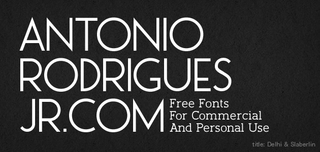 Antonio Rodrigues Jr.com (Free Fonts For Commercial And Personal Use)