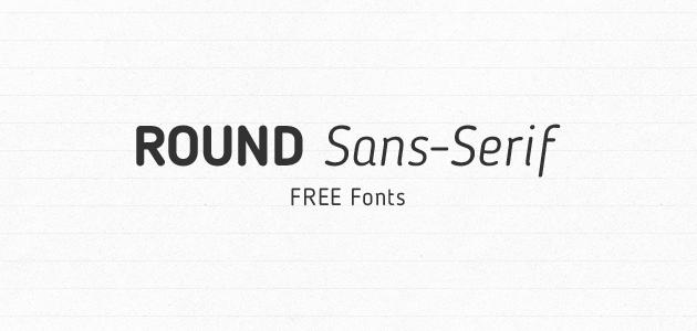 Round sans-serif Free fonts