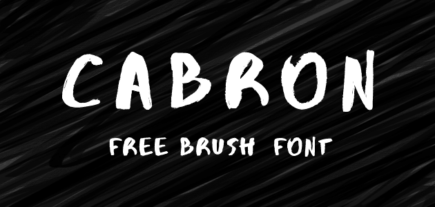 Cabron Free Brush Font