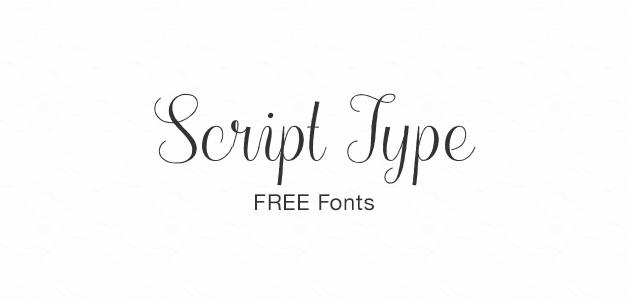 Script type free fonts