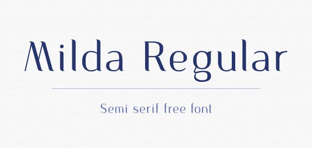 Milda Regular | semi-serif free font