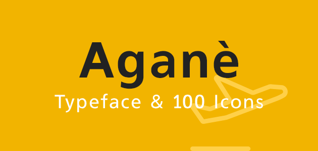 Aganè Typeface &amp 100 Icons